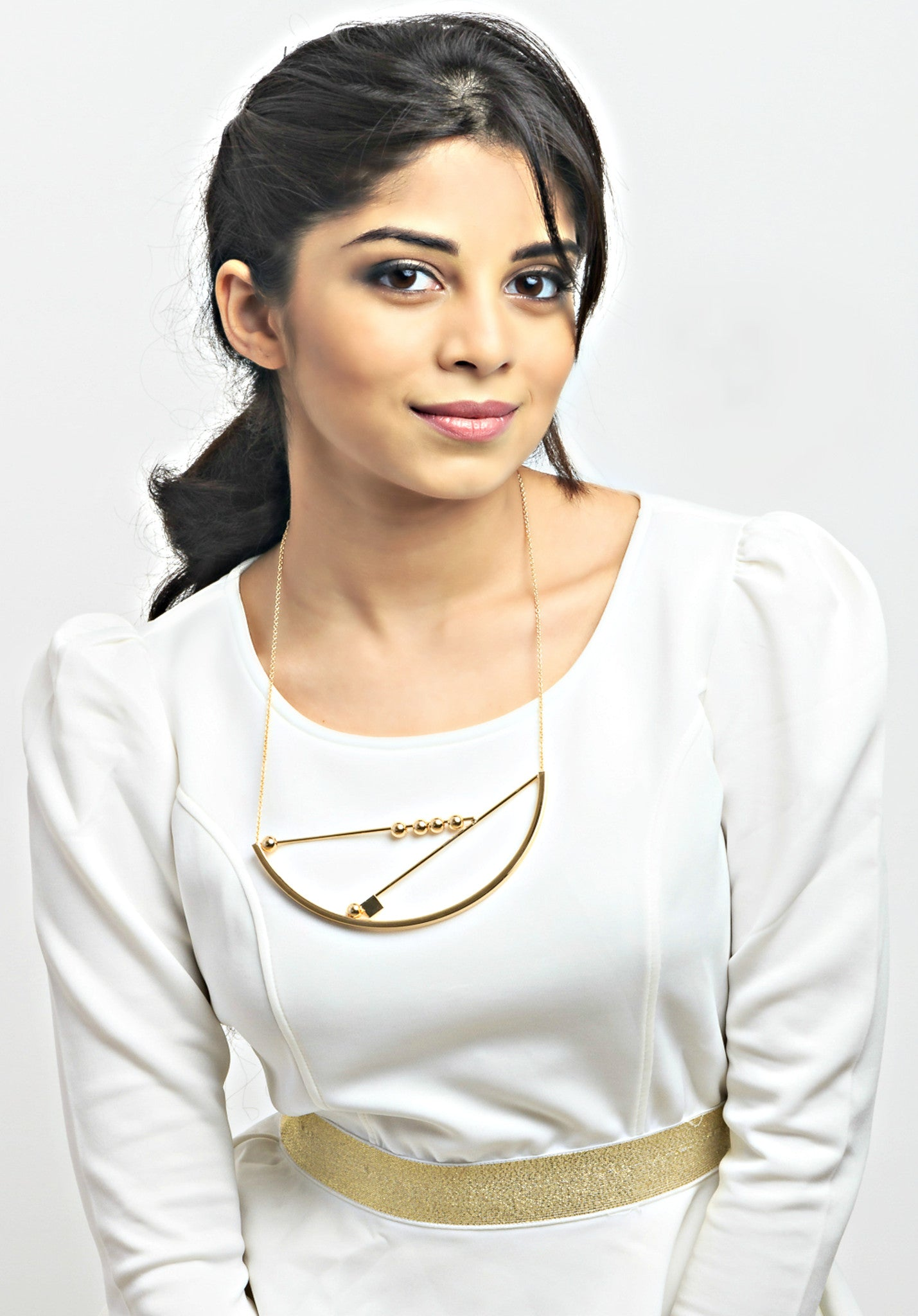London- Geometric 18k Gold Plated Necklace - ChicMela