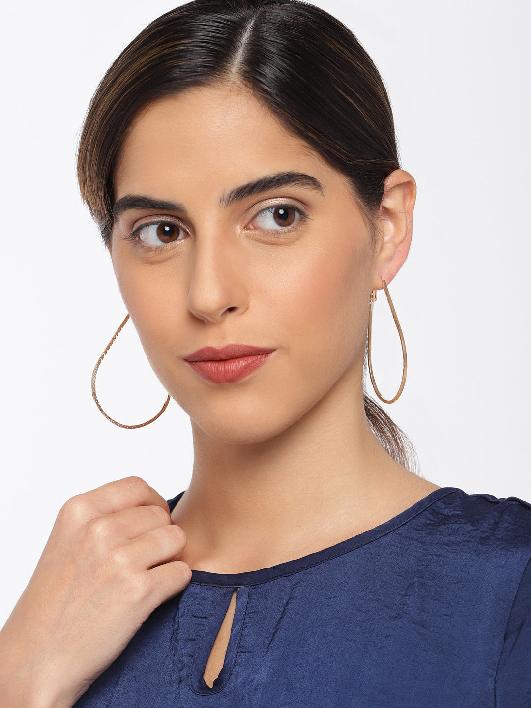 Teardrop Gold Hoops - ChicMela