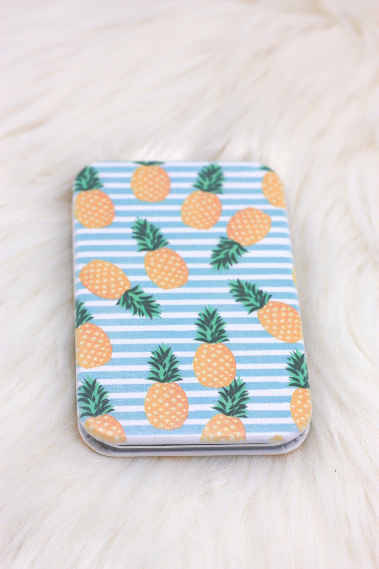 Tropical Pineapple Compact Mirror - ChicMela