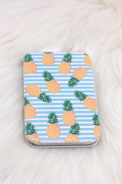 Tropical Pineapple Compact Mirror