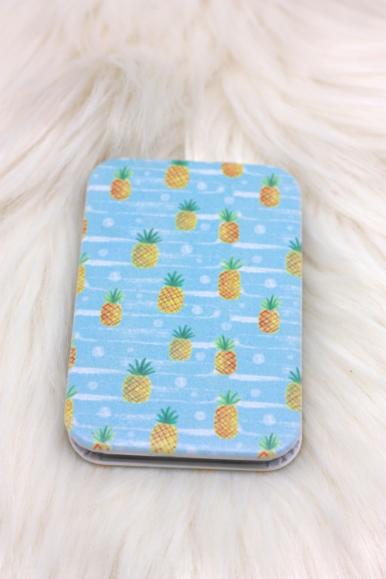 Aqua Pineapple Compact Mirror - ChicMela