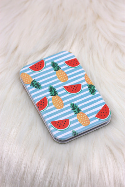 Pineapple and Watermelon Compact Mirror