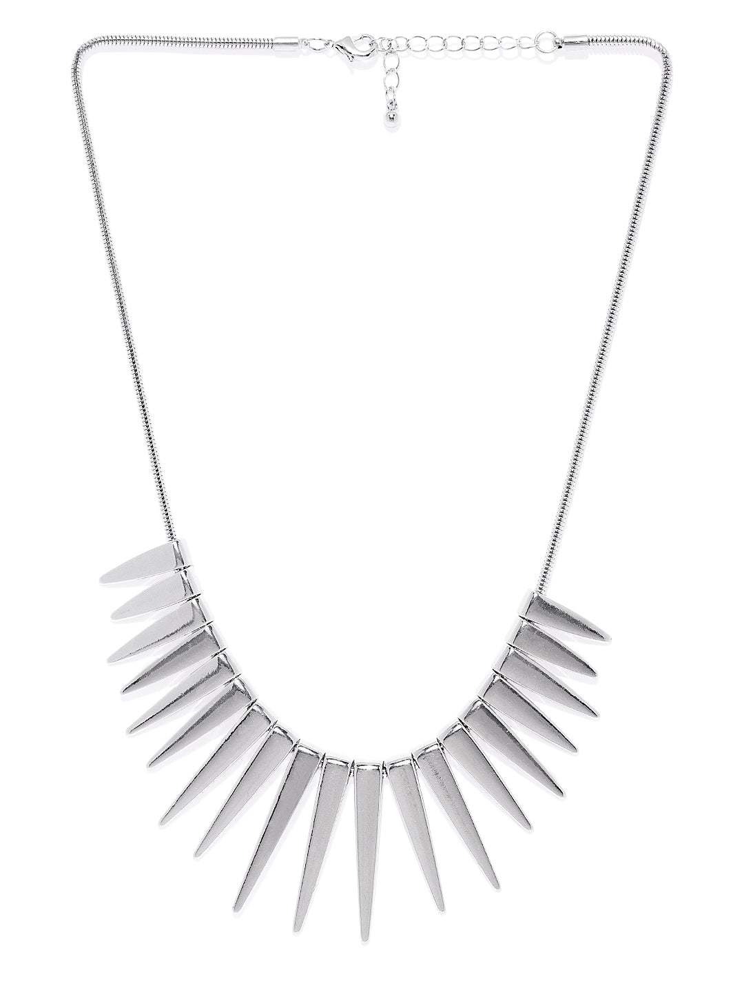 Silver Conical Necklace - ChicMela
