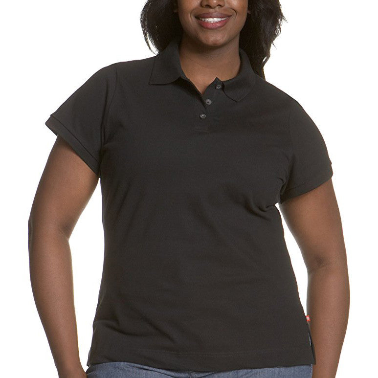 f4d2193c8 Women's Plus Size Short Sleeve Pique Polo by Dickies Girl - Black - Uniform  Station, ...
