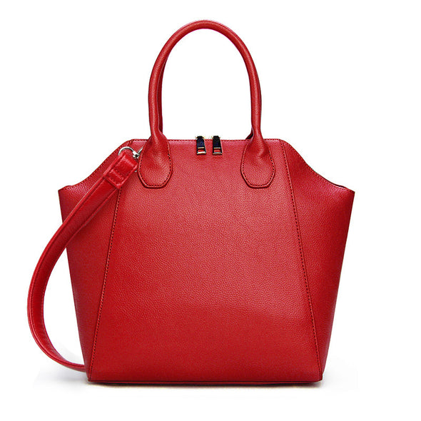 Alice Structured Handbag Red