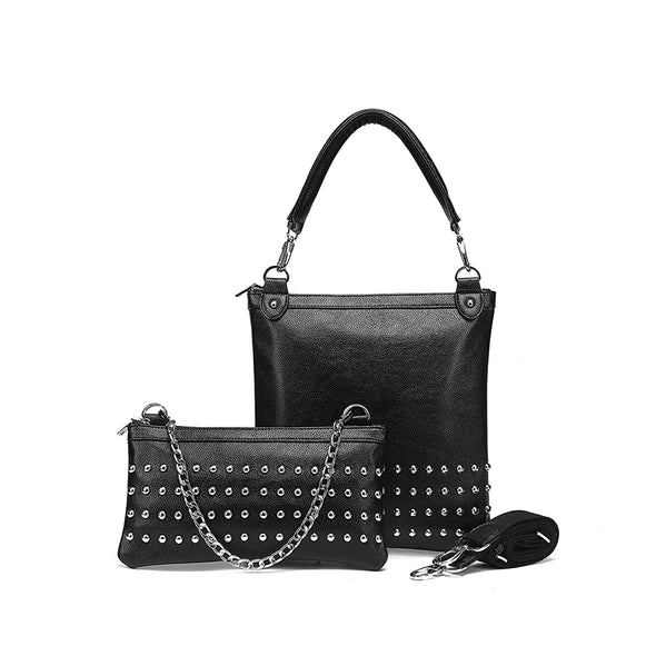 London Nu Pebble Studded Black