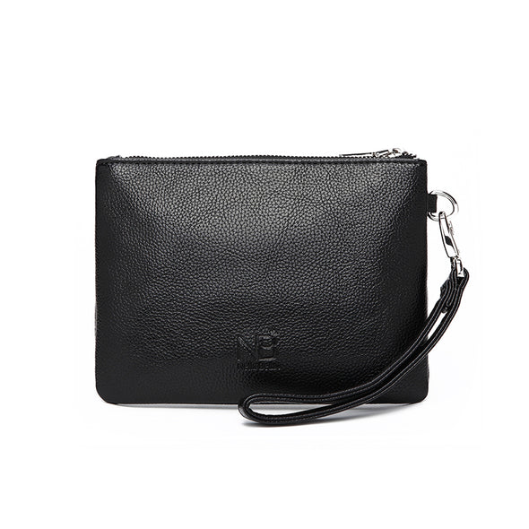 Alberto Mini Clutch Wristlet Black Back View