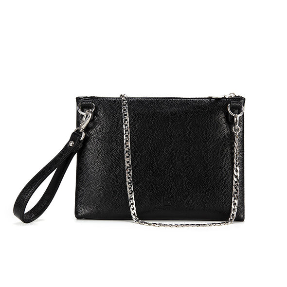 Lexi Carry-all Clutch / Wristlet Black Back View