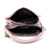 multi-functional handbag clutch, messenger, cosmetic pouch, purse, handle, cross-body strap, small handbag, large handbag