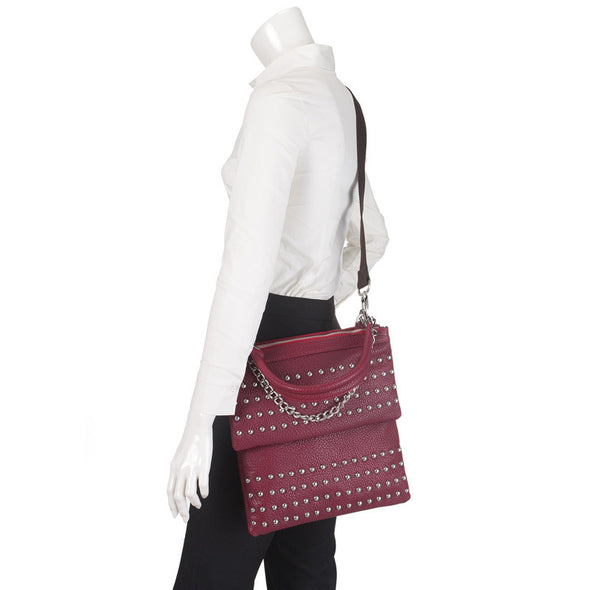 London Multi-functional CrossBody Handbag Studded