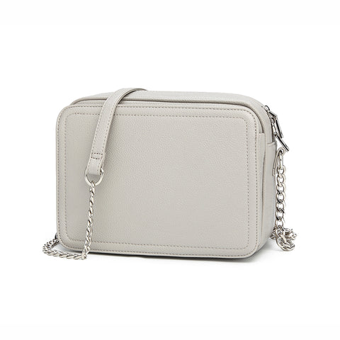 Maya Shoulder Handbag Light Grey