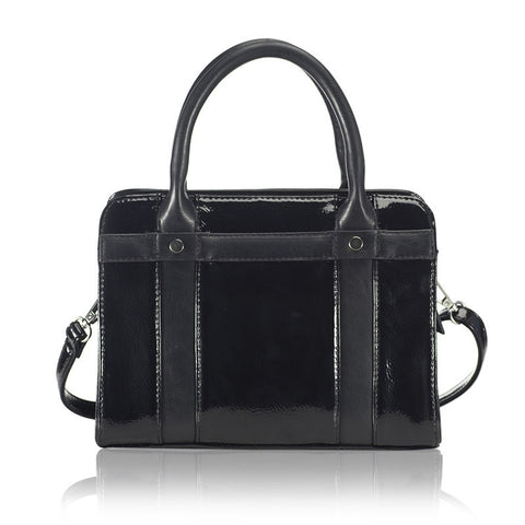 structured top handle satchel