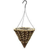 Banana Leaf Rope & Rattan Cone Basket w/ Wire Hanger 20/case