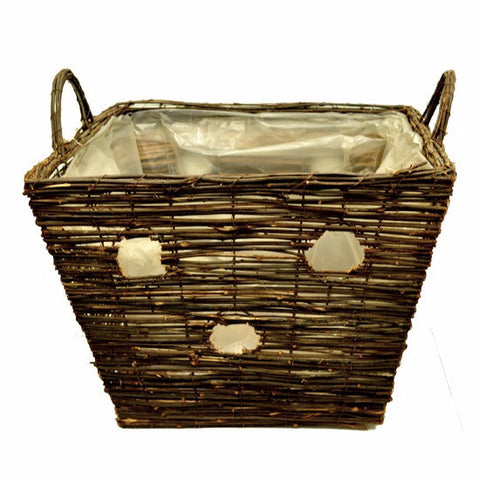 Black Nature Real Garden Basket