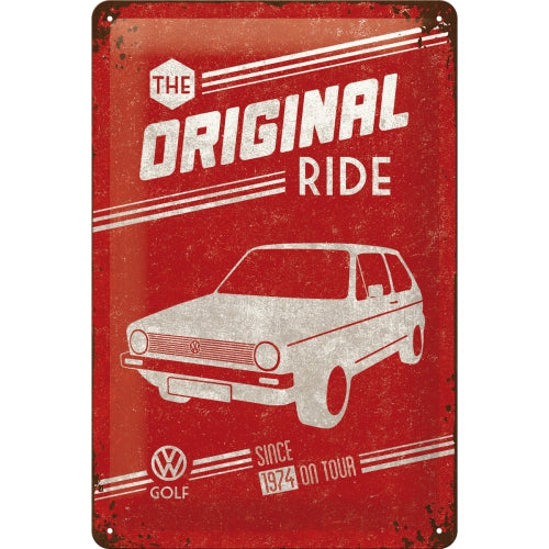"Cartello Volkswagen Golf ""The Original Ride"" 20x30 - Nostalgic Motor Art Merchandize"