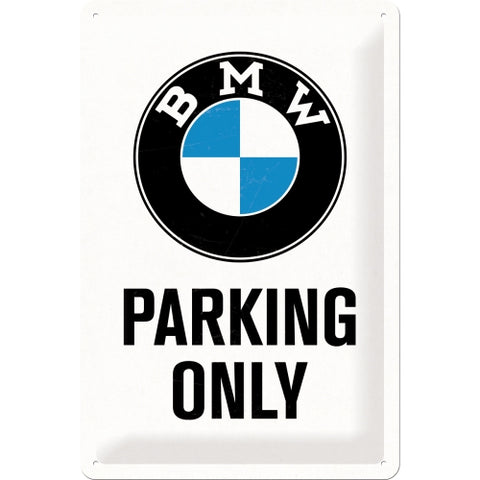 Cartello BMW Parking Only 20x30 - Nostalgic Motor Art Merchandize