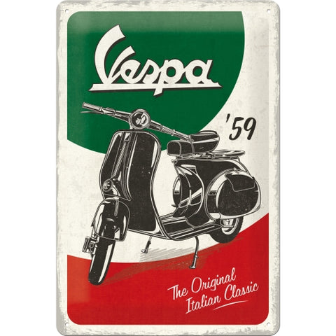 "Cartello Vespa ""The Original Italian Classic"" 20x30 - Nostalgic Motor Art Merchandize"