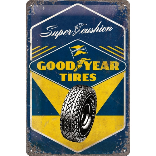 Cartello Goodyear - Super Cushion 20x30 - Nostalgic Motor Art Merchandize