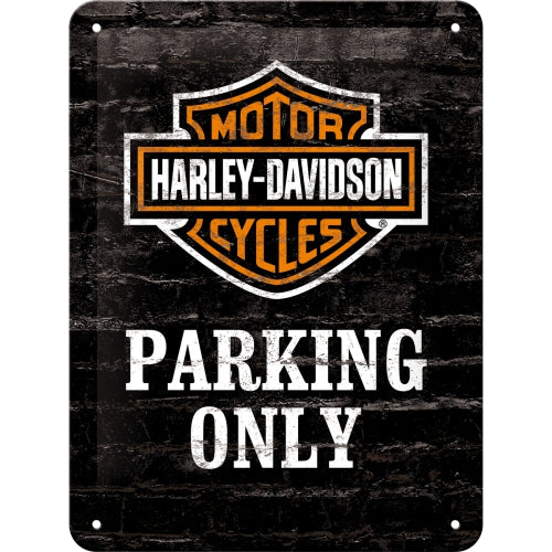Cartello Harley Davidson Parking Only 15x20 - Nostalgic Motor Art Merchandize