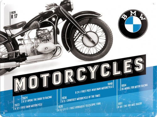 Cartello BMW Motorcycles 30x40cm - Nostalgic Motor Art Merchandize