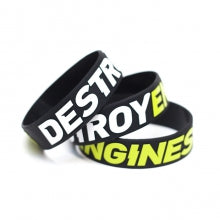 "Bracciale Silicone ""Destroy Engine"" Wristband - CIAY Clothing"
