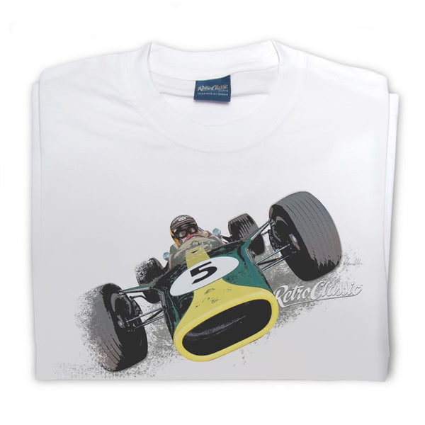 T-shirt 1967 Lotus 49 White Bianca - Retro Classic Clothing