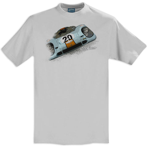 T-shirt Gulf Porsche 917 Grey Grigia - Retro Classic Clothing