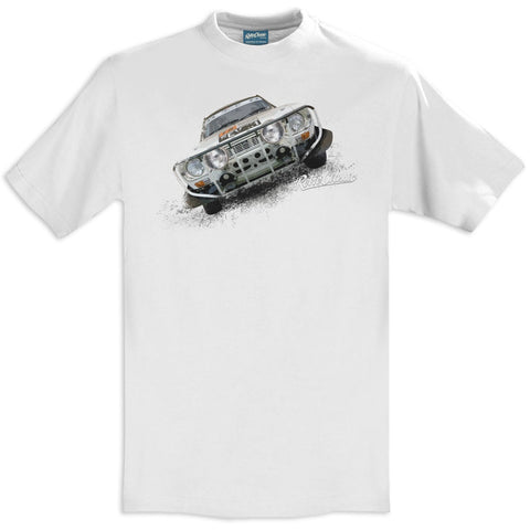 T-shirt Ford Escort MK1 White Bianca - Retro Classic Clothing