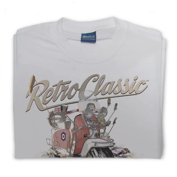 T-shirt Mods Lambretta Grey Grigia - Retro Classic Clothing
