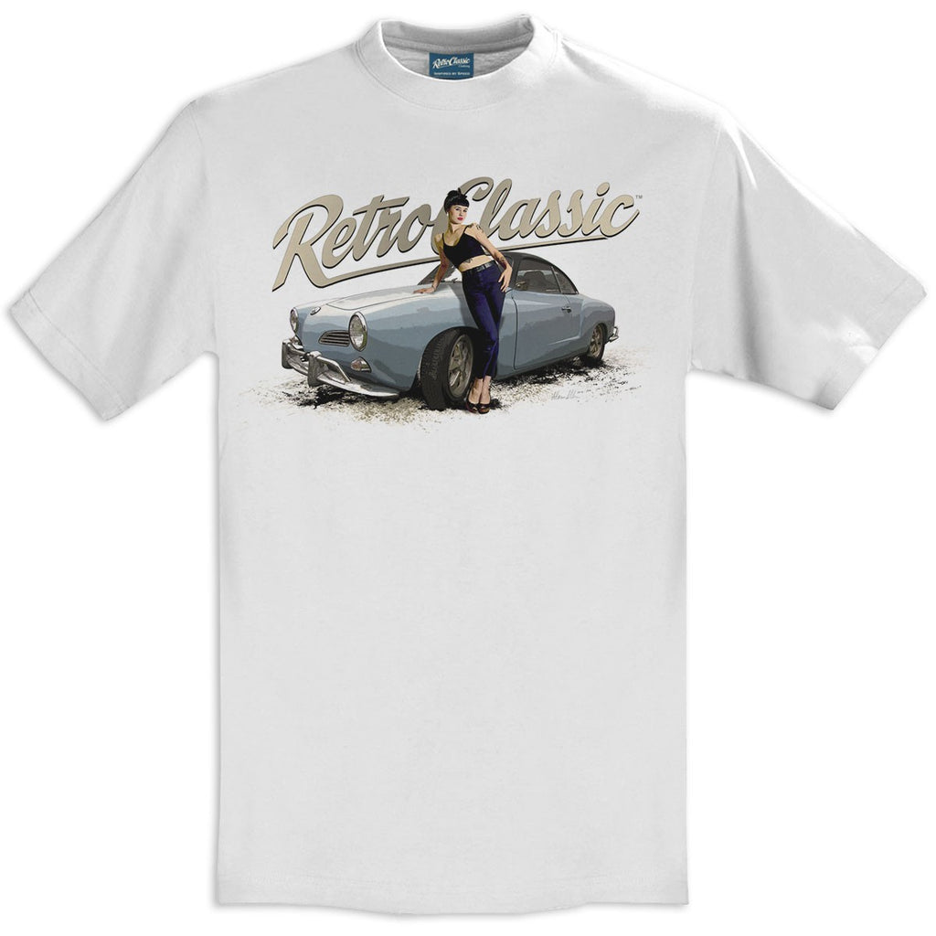 T-shirt Karman Ghia Coupé & Bethany Birks White Bianca - Retro Classic Clothing