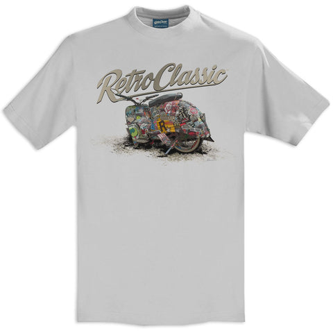 T-shirt The Rat Crew Simson Motorcycle Grey Grigia - Retro Classic Clothing