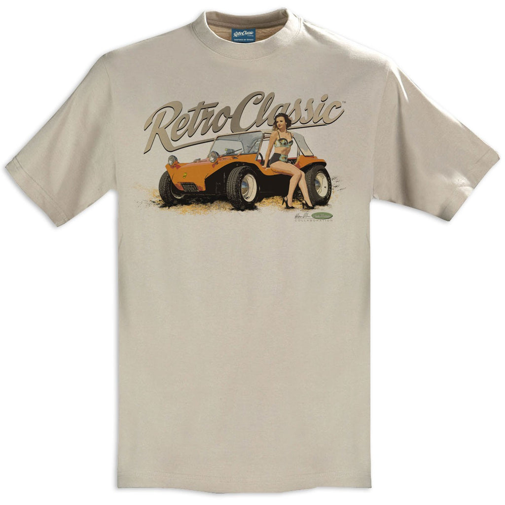 T-shirt Meyers Manx Beach Buggy Sand Beige - Retro Classic Clothing