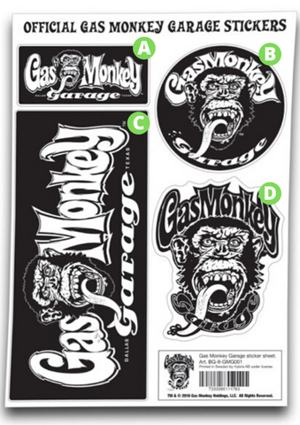Adesivi Stickers Gas Monkey Garage GMG - Kustom & American Brands