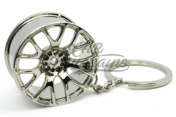Cerchio Wheel 3SDM 0.01 Chrome Cromo Portachiavi Keyrings - Car Keychains