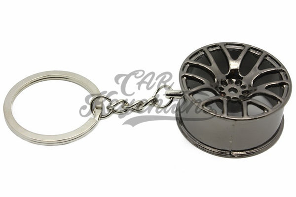 Cerchio Wheel 3SDM 0.01 Black Chrome Nero Cromo Portachiavi Keyrings - Car Keychains