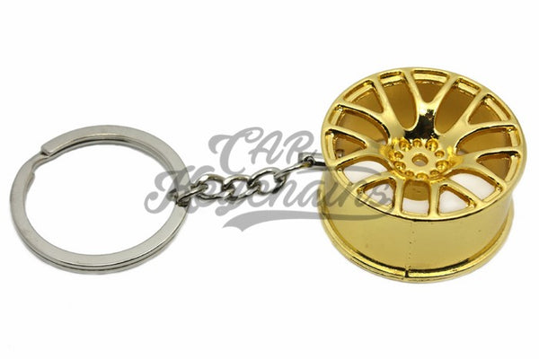 Cerchio Wheel 3SDM 0.01 Gold Oro Portachiavi Keyrings - Car Keychains