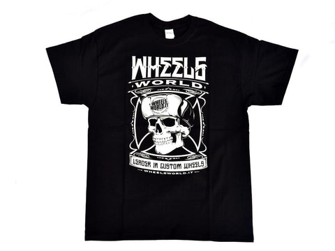 Tshirt Skull Nera Black - Wheels World