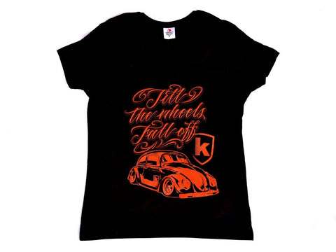 Lady Tshirt Kafer Black Nera - Wheels World