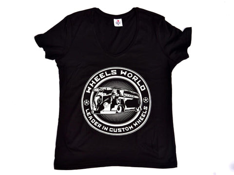 Lady Tshirt T-One Black Nera - Wheels World