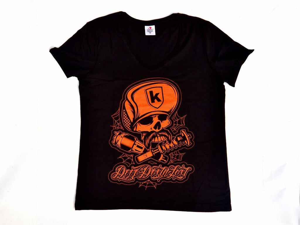 Lady Tshirt Skull Cap Black Nera - Wheels World