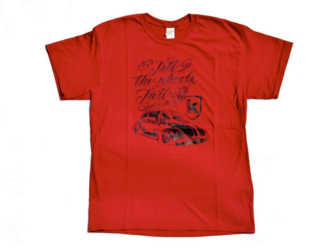 Tshirt Kafer Rossa Red - Wheels World