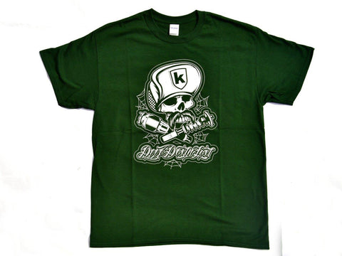 Tshirt Skull Cap Green Verde - Wheels World