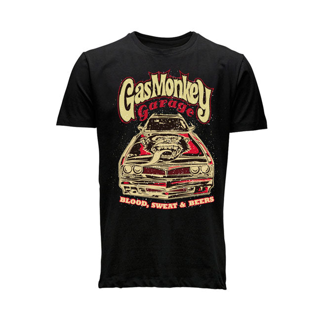 T-shirt Gas Monkey Garage GMG Muscle Car Tee BLACK - Kustom & American Brands