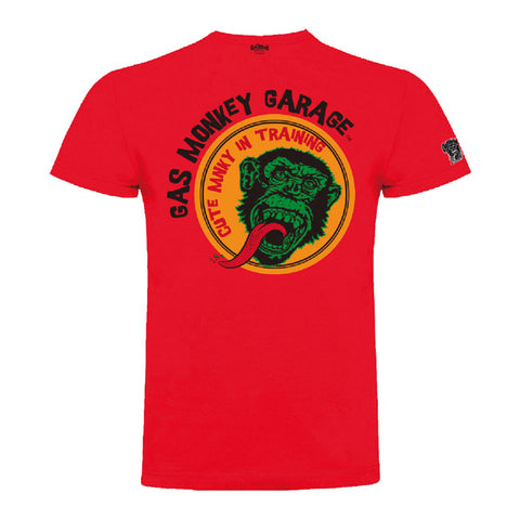 T-shirt KID Bambino Gas Monkey Garage GMG Cute Monkey Red - Kustom & American Brands