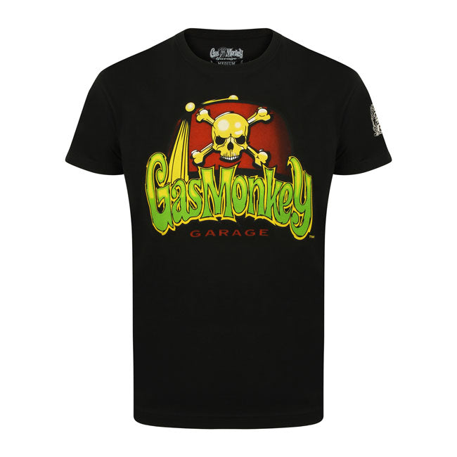 T-shirt Gas Monkey Garage GMG Skull and Logo - Kustom & American Brands