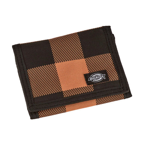 Dickies Portafoglio Brown Duck Tartan Wallet - Kustom & American Brands