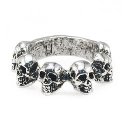 Jewels Anello Multi Skull Ring Amigaz - Kustom & American Brands