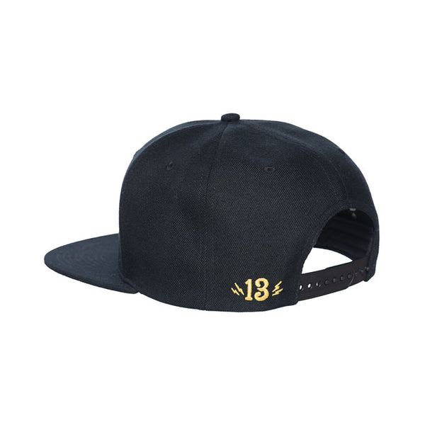Lucky 13 Shocker Snapback Black Nero - Kustom & American Brands