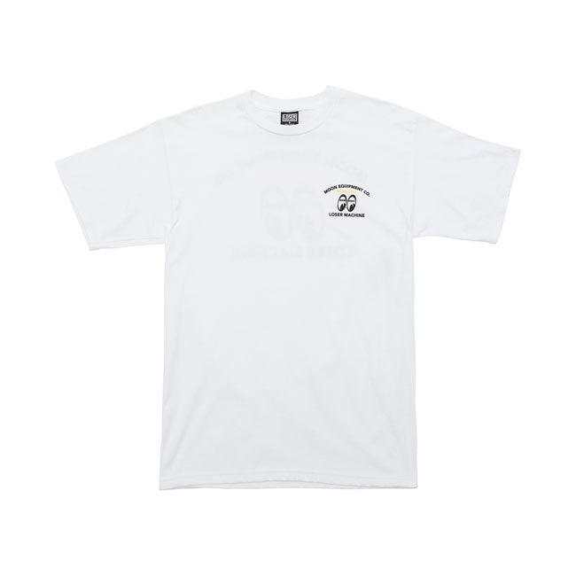 T-shirt LMC x MoonEyes Speed Shift Bianca White - Kustom & American Brands