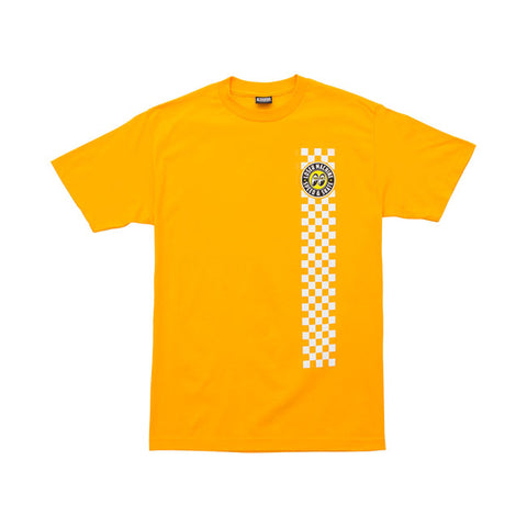 T-shirt LMC x MoonEyes Holeshot Yellow Giallo - Kustom & American Brands